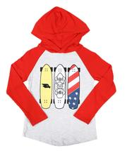 Tony Hawk - Long Sleeve Graphic Raglan Hooded T-Shirt (4-7)-2628214