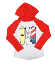Tony Hawk - Long Sleeve Graphic Raglan Hooded T-Shirt (8-16)-2628414