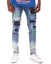 Jeans & Pants - RHINESTONE BACKED OMBRE JEAN-2628670