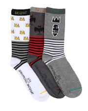 Jean-Michel Basquiat - 3 Pair Crown Crew Socks-2623646