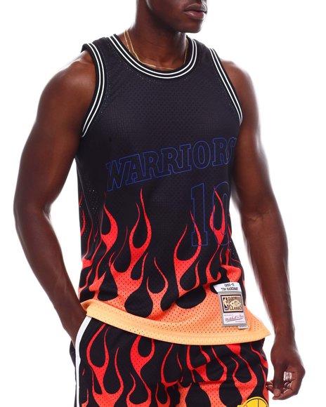 NBA, MLB, NFL Gear - GOLDEN STATE WARRIORS Flames Swingman Jersey - Tim Hardaway