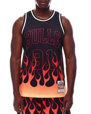Mitchell & Ness - CHICAGO BULLS Flames Swingman Jersey - Dennis Rodman-2628418