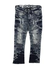 Bottoms - Rip & Repaired Stretch Denim Moto Jeans (2T-4T)-2631410