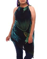 Women - Asymmetrical Printed Top (Plus Size)-2627956
