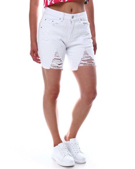 Fashion Lab - Distressed Shorts