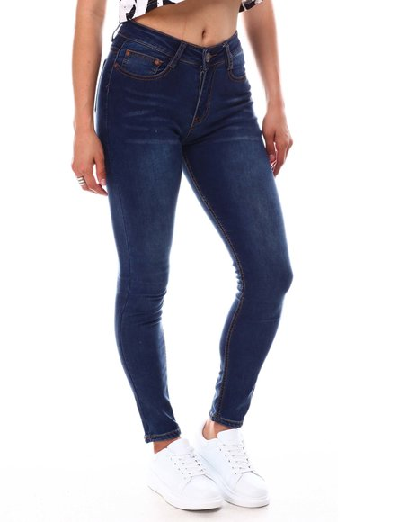 Fashion Lab - 5 Pockets  Whiskers Jeans