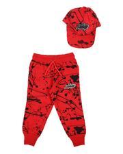 Sizes 2T-4T - Toddler - 2 Pc Savage Paint Splatter Jogger & Snapback Cap Set (2T-4T)-2624929