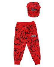 Sets - 2 Pc Savage Paint Splatter Jogger & Snapback Cap Set (4-7)-2624934