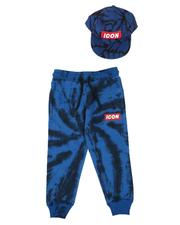 Arcade Styles - Icon Tie Dye Print Joggers & Snapback Hat Set (8-18)-2628146