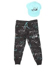 Sets - Hustle Paint Splatter Joggers & Snapback Hat Set (4-7)-2628151