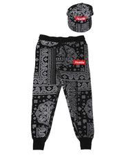 Sweatpants - Hustle Paisley Print Joggers & Snapback Hat Set (8-18)-2628176