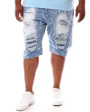 Makobi - Shredded Distressed Denim Shorts (B&T)-2630827