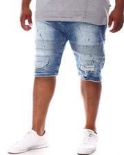 Makobi - Paint Splatter Distressed Biker Shorts (B&T)-2630839