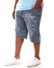 Akademiks - Splatter Print Denim Shorts (B&T)-2630946