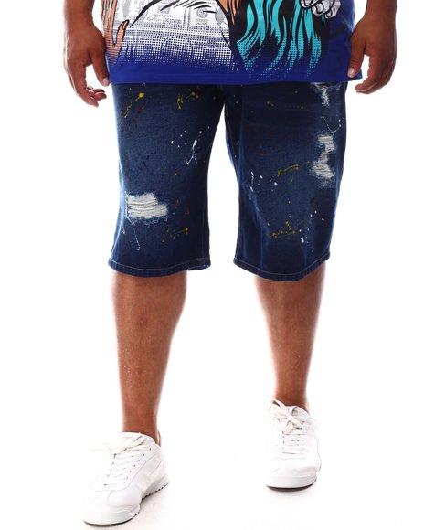 Akademiks - Splatter Print Denim Shorts (B&T)