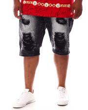 Makobi - Shredded Distressed Denim Shorts (B&T)-2631706