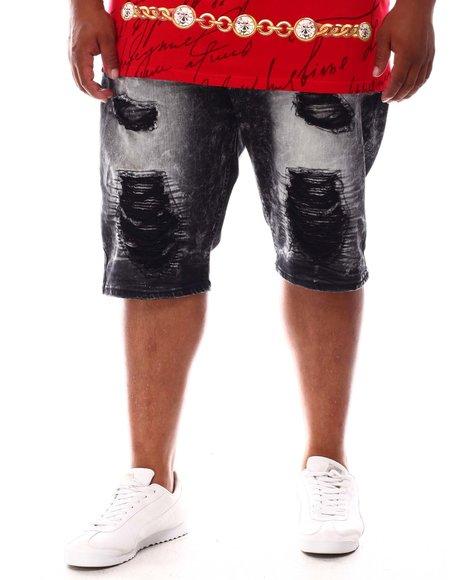 Makobi - Shredded Distressed Denim Shorts (B&T)