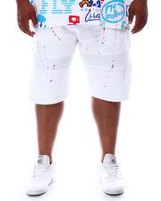 Makobi - Paint Splatter Distressed Biker Shorts (B&T)-2631732