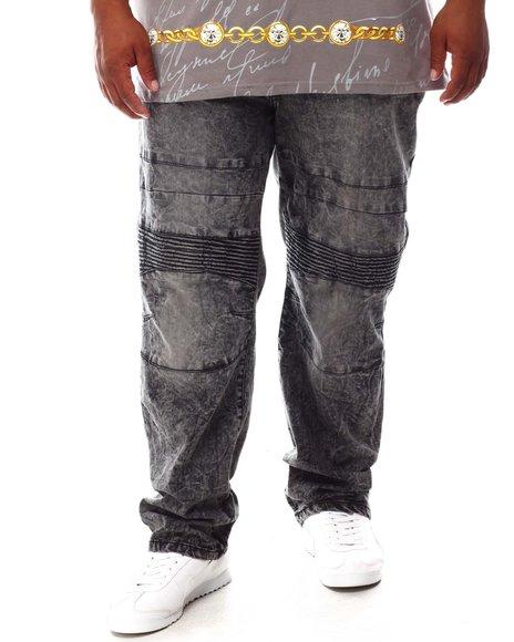 Akademiks - Moto Zipper Denim Jeans (B&T)