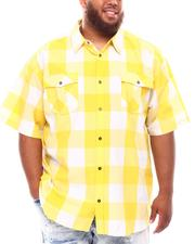 Button-downs - Yarn Dyed Plaid Woven Shirt (B&T)-2632090