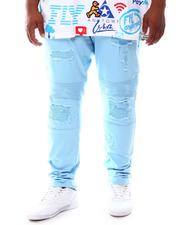 Makobi - Shredded Twill Jeans With Taping (B&T)-2631602