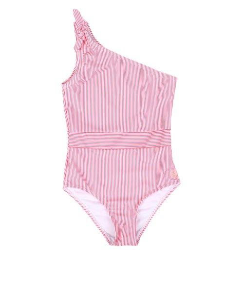 BCBGirls - Striped One-Piece Swimsuit (7-16)