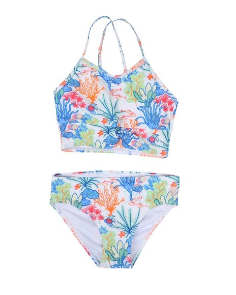 BCBGirls - Two-Piece Twisted Front Tankini Swimsuit Set (7-16)