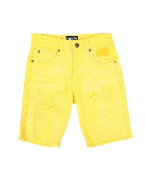 Born Fly - Destructed Color Denim Shorts (8-20)