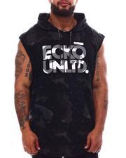 Ecko - Camel Camo Sleeveless Knit Hooded Top (B&T)-2632564