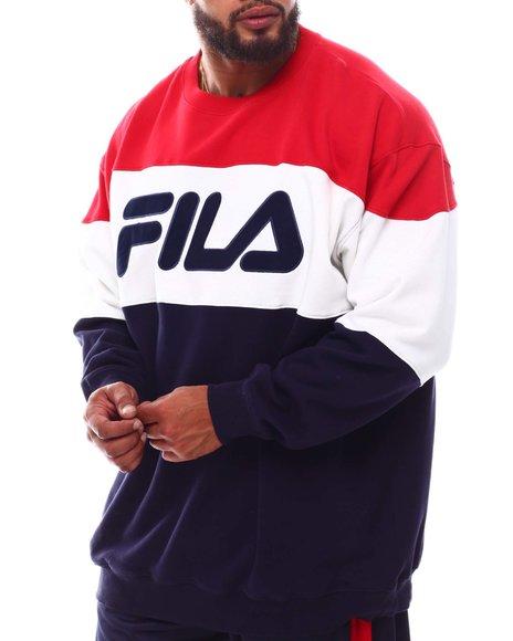 Fila - Colorblock Fleece Crew Fleece Sweatshirt (B&T)