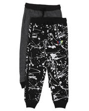 Sizes 4-7x - Kids - 2 Pack Printed & Solid Jogger Pants Set (4-7)-2629657