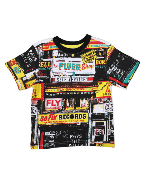 Born Fly - Fly Grocery Print Tee (4-7)
