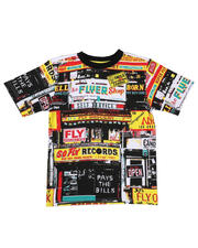 T-Shirts - Fly Grocery Print Tee (8-20)-2630788