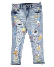 Sizes 2T-4T - Toddler - Paint Splatter Destructed Jeans (2-7)-2631861