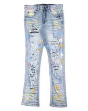 Bottoms - Paint Splatter Destructed Jeans (8-20)-2631868
