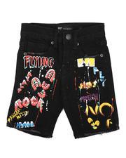 Sizes 2T-4T - Toddler - Graffiti Raw Edge Denim Shorts (2-7)-2631880