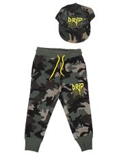 Sizes 2T-4T - Toddler - Drip Camo Joggers & Snapback Hat Set (2T-4T)-2629229