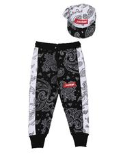 Sets - Savage Bandana Print Joggers & Snapback Hat Set (4-7)-2629233