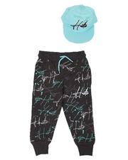 Sizes 2T-4T - Toddler - Hustle Paint Splatter Jogger & Snapback Hat Set (2T-4T)-2629247