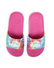 Girls - Cool Cat Tie Dye Jr. Slides (4-7)-2634194