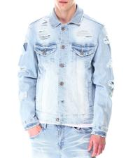 Outerwear - Distressed Denim Jacket-2633898
