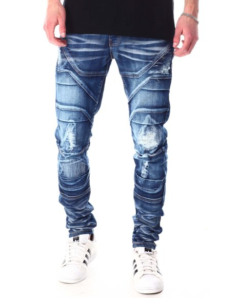 Copper Rivet - Premium Washed Distressed Jean