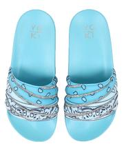Sandals - Bandana Printed Slide Sandals-2634262