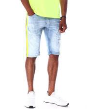 Men - Ripped Jean Short w Stripe Detail-2634749