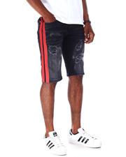 Men - Ripped Jean Short w Stripe Detail-2634709