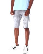 Men - Ripped Jean Short w Stripe Detail-2634717