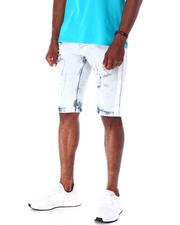 Men - Ripped Jean Short w Stripe Detail-2634733