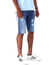 Men - Ripped Jean Short w Stripe Detail-2634741