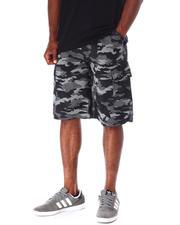 Men - Textured Print Camo Cargo Short w Belt-2634928