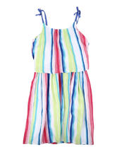 Girls - Watercolor Striped Dress (7-16)-2634012